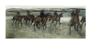 "Edgar Degas Fine Art Open Edition Giclée:""Race Horses"""