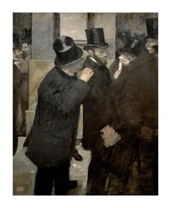 "Edgar Degas Fine Art Open Edition Giclée:""The Stock Exchange"""