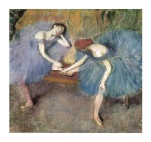 "Edgar Degas Fine Art Open Edition Giclée:""Two Dancers Resting, c. 1905-1910"""
