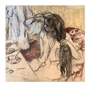 """Edgar Degas Fine Art Open Edition Giclée:""""Woman at her Toilette"""""""