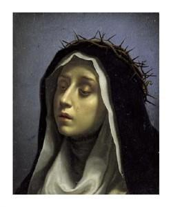 "Carlo Dolci Fine Art Open Edition Giclée:""Saint Catherine of Siena"""