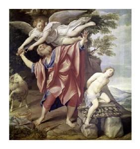 "Domenichino Fine Art Open Edition Giclée:""Abraham Sacrificing Isaac"""