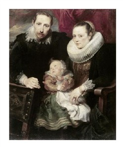 "Anthony Van Dyck Fine Art Open Edition Giclée:""A Family Group"""