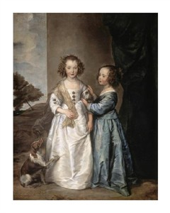 "Anthony Van Dyck Fine Art Open Edition Giclée:""Philadelphia and Elisabeth Wharton"""