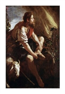 "Domenico Fetti Fine Art Open Edition Giclée:""Moses Before a Burning Bush"""