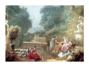 "Jean Honore Fragonard Fine Art Open Edition Giclée:""A Game of Hot Cockles"""