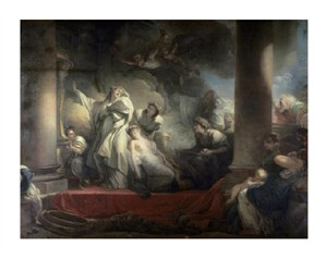 "Jean Honore Fragonard Fine Art Open Edition Giclée:""High Priest Coresus Sacrifices Himself to Save Callirhoe"""