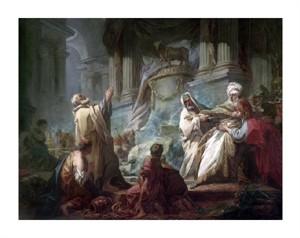"Jean Honore Fragonard Fine Art Open Edition Giclée:""Jeroboam Sacrificing to the Idols"""