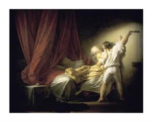 "Jean Honore Fragonard Fine Art Open Edition Giclée:""Lock Le Verrou"""