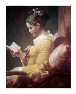 "Jean Honore Fragonard Fine Art Open Edition Giclée:""Young Girl Reading"""