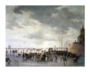 """Jan Van Goyen Fine Art Open Edition Giclée:""""Scene on the Ice Near Dordecht"""""""