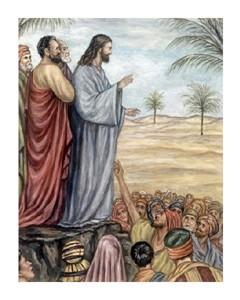 "Giovanni Guercino Fine Art Open Edition Giclée:""Sermon on the Mount"""