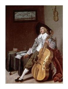"Dirck Hals Fine Art Open Edition Giclée:""Cello Player"""