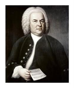 """Elias Gottlob Haussman Fine Art Open Edition Giclée:""""Johann Sebastian Bach"""""""