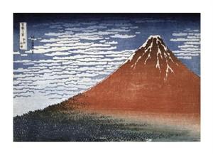 "Hokusai Fine Art Open Edition Giclée:""Fuji in Clear Weather"""