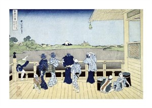 "Hokusai Fine Art Open Edition Giclée:""The Sazai Hall of the 500 Rakan Temple"""