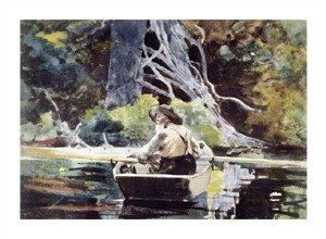 """Winslow Homer Fine Art Open Edition Giclée:""""Adirondack Guide"""""""