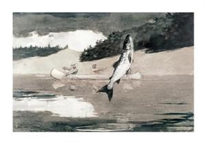 "Winslow Homer Fine Art Open Edition Giclée:""Flying Fish on Lake John"""