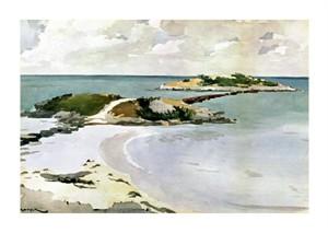 """Winslow Homer Fine Art Open Edition Giclée:""""Gallows Island"""""""