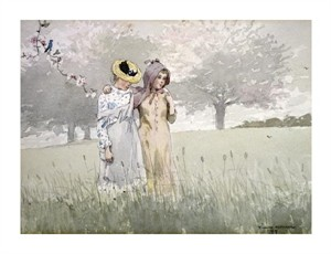 "Winslow Homer Fine Art Open Edition Giclée:""Girls Strolling in an Orchard"""