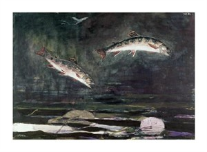 "Winslow Homer Fine Art Open Edition Giclée:""Leaping Trout"""