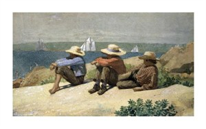 "Winslow Homer Fine Art Open Edition Giclée:""On the Beach"""