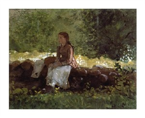 "Winslow Homer Fine Art Open Edition Giclée:""On the Fence"""