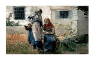 "Winslow Homer Fine Art Open Edition Giclée:""Picking Flowers"""
