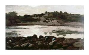 "Winslow Homer Fine Art Open Edition Giclée:""Fisherman on Rocks"""