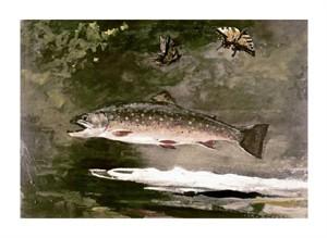 """Winslow Homer Fine Art Open Edition Giclée:""""Trout"""""""