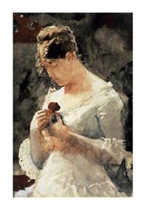 "Winslow Homer Fine Art Open Edition Giclée:""Woman with a Rose"""