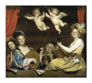 "Gerrit Van Honthorst Fine Art Open Edition Giclée:""Concert"""