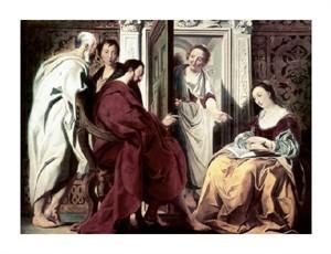 "Jacob Jordaens Fine Art Open Edition Giclée:""Jesus at the House of Mary & Martha"""