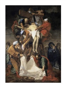 "Jean Baptiste Jouvenet Fine Art Open Edition Giclée:""Descent from the Cross"""