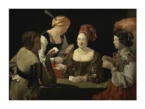 """Georges De La Tour Fine Art Open Edition Giclée:""""Cheat with the Ace of Diamonds (Detail)"""""""