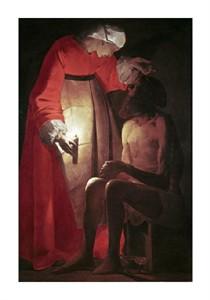 """Georges De La Tour Fine Art Open Edition Giclée:""""Job Visited by His Wife"""""""