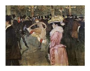 """Henri Toulouse-Lautrec Fine Art Open Edition Giclée:""""At the Moulin Rouge: The Dance"""""""