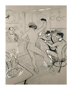 """Henri Toulouse-Lautrec Fine Art Open Edition Giclée:""""Chocolat Dansant"""""""