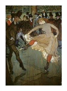 "Henri Toulouse-Lautrec Fine Art Open Edition Giclée:""Dance at the Moulin Rouge (Detail)"""