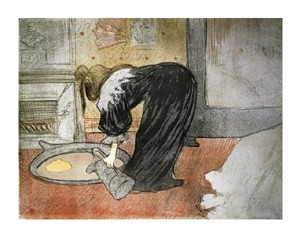 """Henri Toulouse-Lautrec Fine Art Open Edition Giclée:""""Elles: Woman with a Tub"""""""
