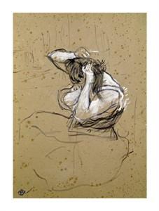 """Henri Toulouse-Lautrec Fine Art Open Edition Giclée:""""Femme Qui Se Peigne"""""""