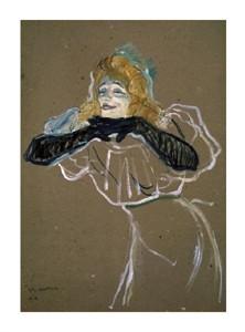"""Henri Toulouse-Lautrec Fine Art Open Edition Giclée:""""La Chanteuse: Yvette Gilbert"""""""
