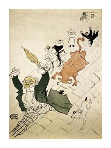 """Henri Toulouse-Lautrec Fine Art Open Edition Giclée:""""La Vache Enragee"""""""