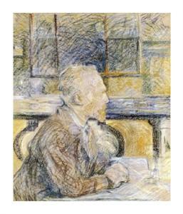 """Henri Toulouse-Lautrec Fine Art Open Edition Giclée:""""Portrait of Van Gogh"""""""