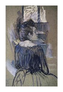 """Henri Toulouse-Lautrec Fine Art Open Edition Giclée:""""Woman at the Widow"""""""