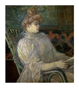 """Henri Toulouse-Lautrec Fine Art Open Edition Giclée:""""Woman Reading (Femme Lisant)"""""""