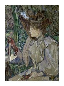 """Henri Toulouse-Lautrec Fine Art Open Edition Giclée:""""Woman with Gloves"""""""
