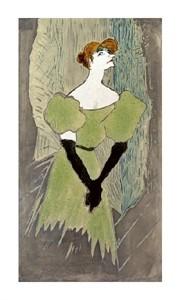 "Henri Toulouse-Lautrec Fine Art Open Edition Giclée:""Yvette Guilbert"""