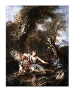 """Francois Le Moyne Fine Art Open Edition Giclée:""""Narcissus"""""""