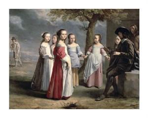 """Antoine Le Nain Fine Art Open Edition Giclée:""""Children's Dance"""""""